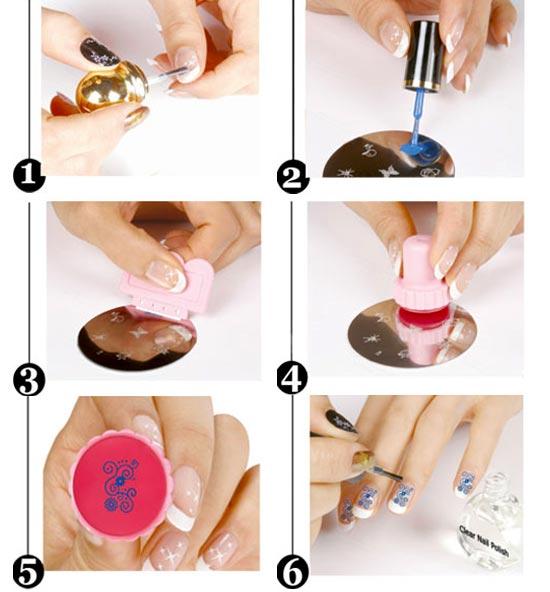 Нанесение рисунков на ногти в домашних условиях 338