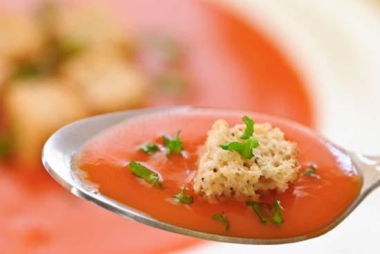 Томатный суп с лососем рецепт