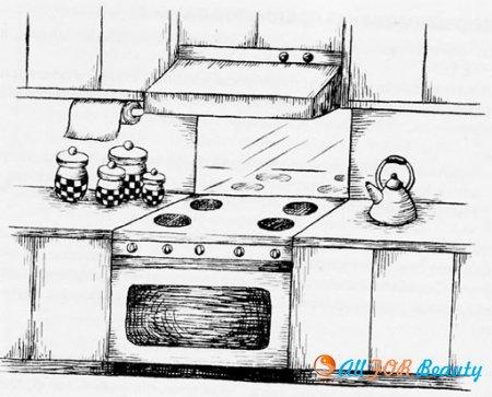 Варианты расположения: унитаз/кухонная плита и унитаз/спальня
