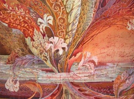 Оформление батика - один из видов изобразительного искусства